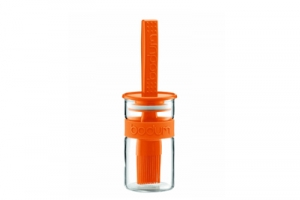 Marinadenglas mit Pinsel - orange - 0.25 l - BODUM