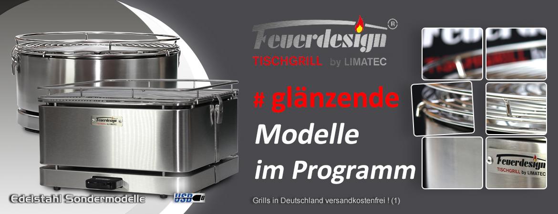 Holzkohle Tischgrill Sondermodelle
